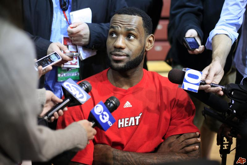 A king is crowned LeBron James, Miami Heat win NBA title