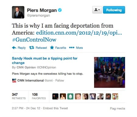 Piers Morgan Deportation Petition Reaches 68,000 Signatures, White House Must Respond.
