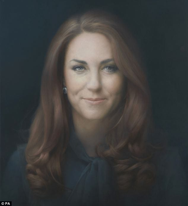 Duchess of Cambridge Likes Her Ugly Official Portrait