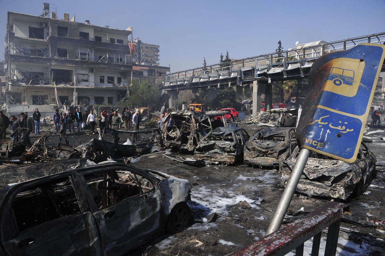 Car Bomb Kills 53 Near Damascus Ruling Party Building