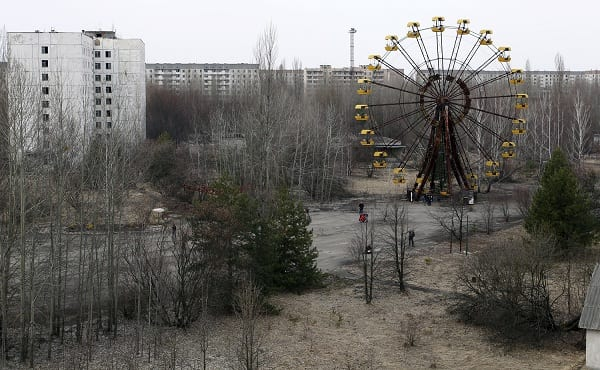 Roof Collapses At Chernobyl Nuclear Plant