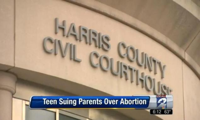 Texas Girl Sues Parents Over Abortion
