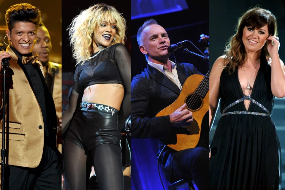 Watch Live Sting, Rihanna, Bruno Mars, Kelly Clarkson To Sing At Grammys On Feb. 10 @ 8PM ET