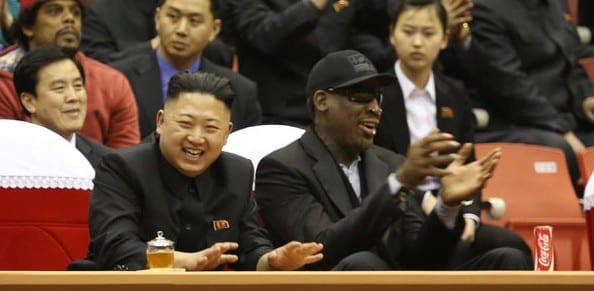 Rodman Meets With North Korean Leader, Courtside