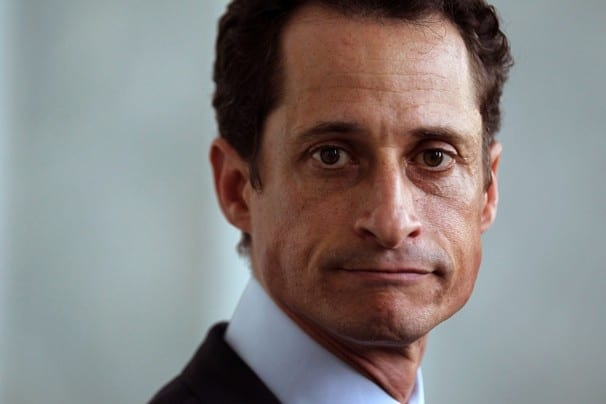 New York City mayor poll Anthony Weiner in 2nd place