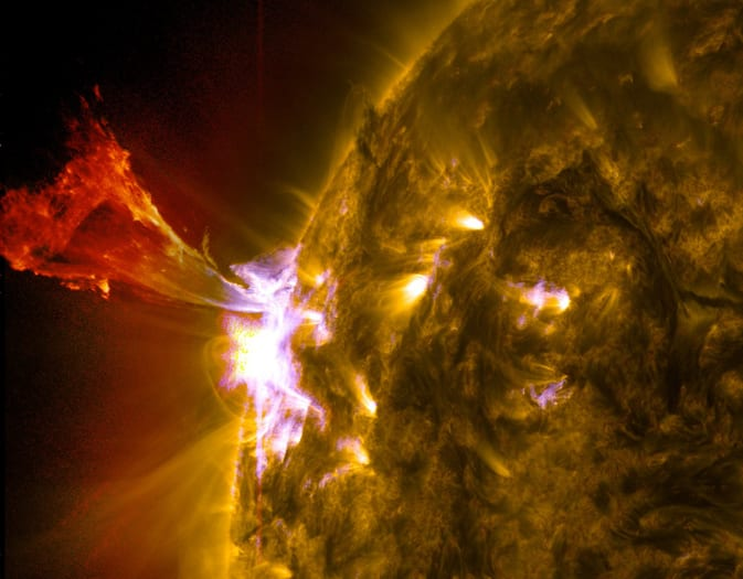 The three biggest solar flares of the year all happened in a 24-hour period yesterday