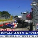 Dramatic Footage Shows Dario Franchitti Crash at Grand Prix