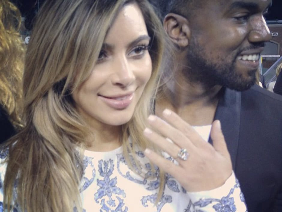 Kanye West And Kim Kardashian Engaged