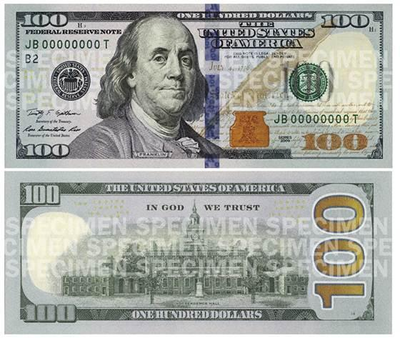 New $100 bills finally hit the street