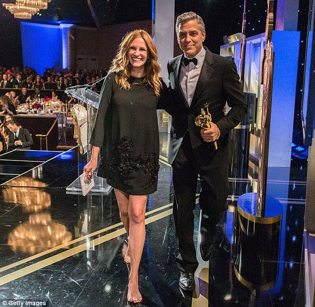 George Cloney Honored By Old Friend Julia Roberts At BAFTA
