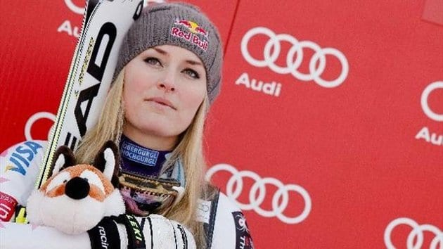 Lindsey Vonn being evaluated after crash during training