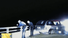 Dashcam captures moment trooper, suspect fall