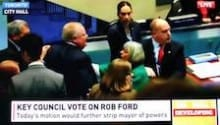 Watch when Rob Ford knocked down Councillor Pam McConnell VIDEO