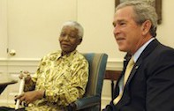 Former Presidents Bush, Clinton to travel to Mandela memorial