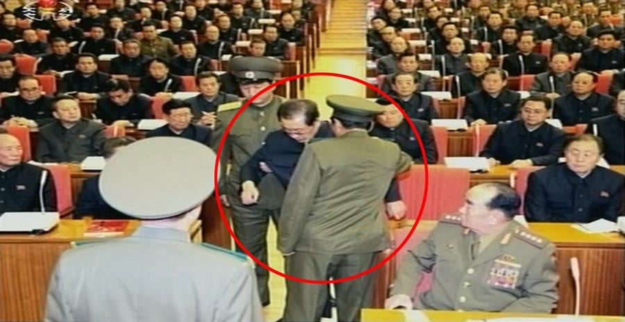 Kim Jong Un's uncle dragged away from meeting, erased from documentary