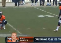 Matt Prater makes NFL record 64-yard field goal