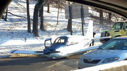 Small plane makes emergency landing on New York City highway