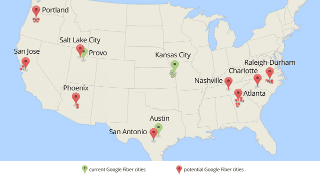 Google Fiber chooses nine metro areas for possible expansion