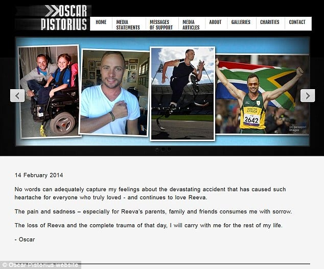 Oscar Pistorius Breaks Silence On Reeva Steenkamp's Death