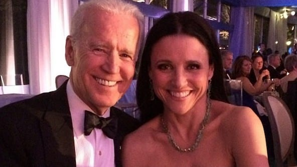'Veep' Julia Louis-Dreyfus dines with Veep Joe Biden
