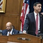 A tense exchange between House Oversight Committee Chairman Darrell Issa (R-Calif.) and ranking member Elijah Cummings (D-Md.) took place during a Wednesday
