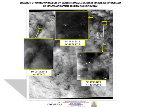 French satellite spots 122 'potential objects' in jet search