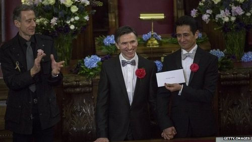 Same-sex couples legally marry in England, Wales