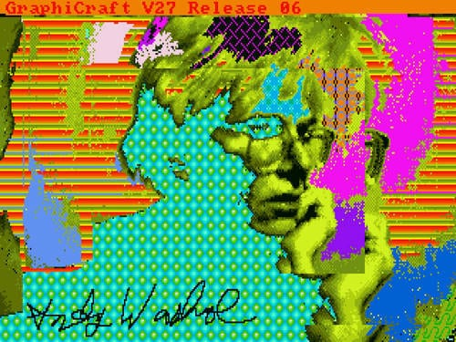 Lost Andy Warhol art recovered from 1985 Amiga floppy disks