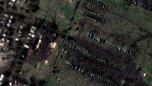 Nato images reveal Russian forces on Ukraine border