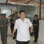North Korean leader Kim Jong Un visits the newly constructed Kalma Foodstuffs Factory