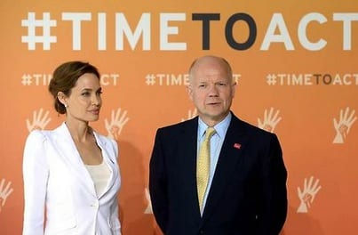 Angelina Jolie urges end to war-zone rape at London summit