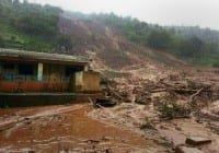 Dozens trapped after landslide hits village in India
