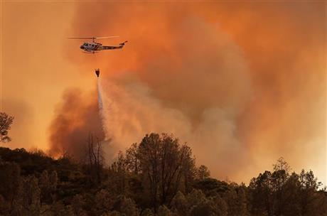 Fast-moving fire burns at 3,800 acres in California's Napa County