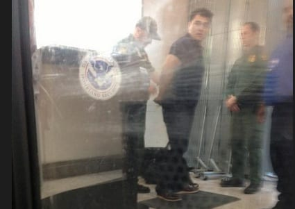Jose Antonio Vargas in handcuffs
