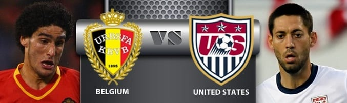 USA vs Belgium world cup