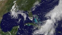 Hurricane Cristobal Strengthens, Off The Bahamas