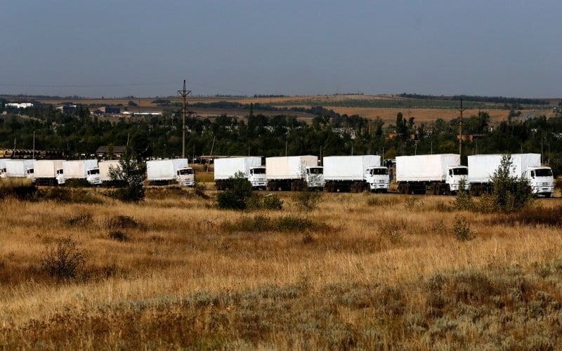 Russian Aid Convoy Enters Ukraine