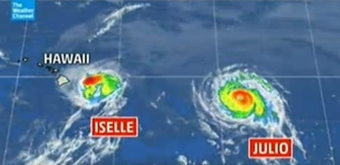 double hurricane trouble for hawaii iselle julio