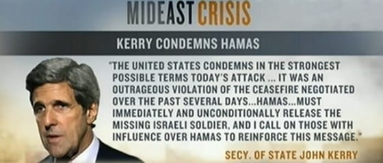 john kerry statement on Hamas