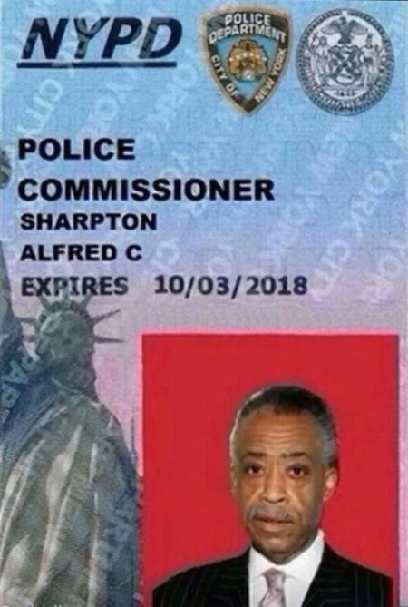 sharptonpolice ID makes the rounds with the NYPD nice joke not