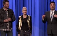 Gwen Stefani, Blake Shelton, and Jimmy Fallon Face Off in a Lip Sync Battle on
