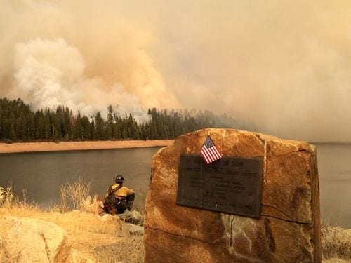 King Fire in California nearly doubles in size overnight