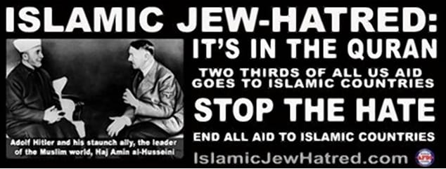 anti-muslim hate group ads hitler