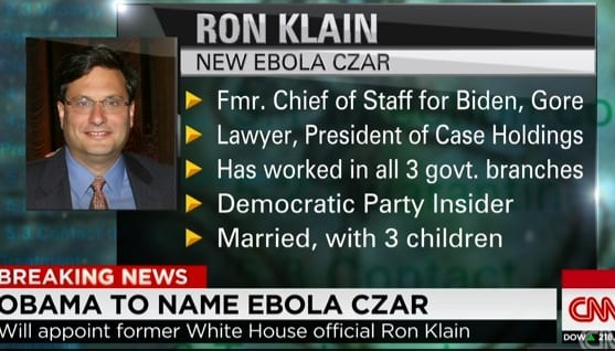 President Obama to appoint Ron Klain as Ebola czar