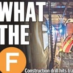 They drilled into the street, but didn't realize they were right over the F train tunnel