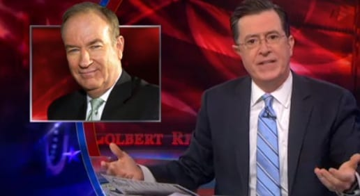 stephen colbert vs bill oreilly