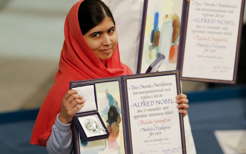 Malala at Nobel- My Story Not Unique
