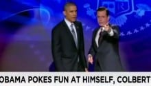 Obama takes over 'The Colbert Report' [VIDEO]