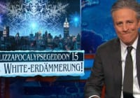 Jon Stewart On Winter Storm Juno Blizzapocalypsegeddon15 [VIDEO]