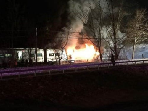 400 feet of third rail sliced through train in Metro-North crash